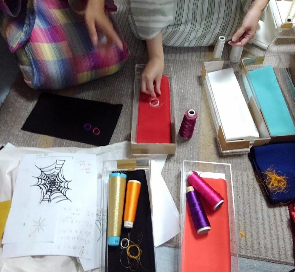 刺繍糸選び